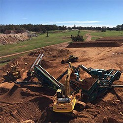 Excavation, Crushing and Stockpiling of Lateritic Caprock